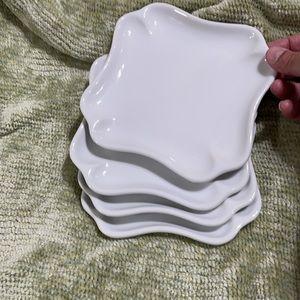 Pier 1 Imports White Porcelain Appetizer Plates